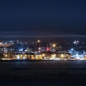 Fog rolling in over Miramichi, NB