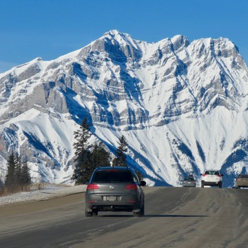 Beautiful winter scenes and skies from Banff and Kananaskis Country