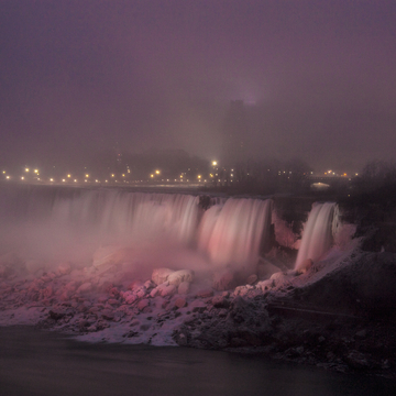 Foggy evening by the Falls