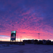 Sunrise in Regina in the south end !