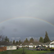 Rainbow over Parksville, B.C. (Vancouver Island