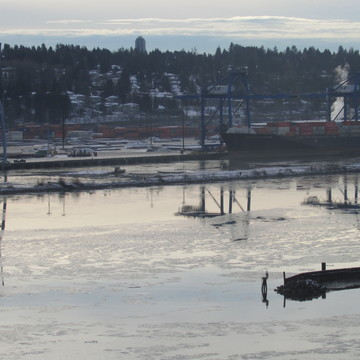 Ice on the Fraser River