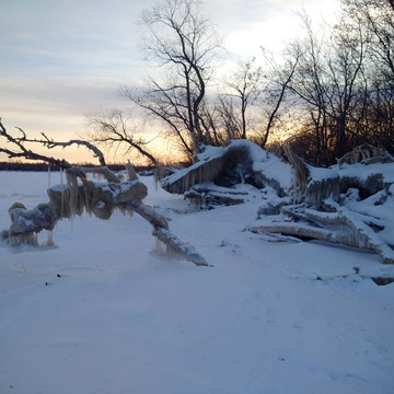 lake Winnipeg icicles