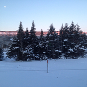 Cold, crisp, clear L'anse au Clair morning