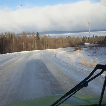 snowing over slave lake