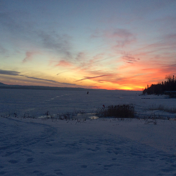 Sunrise on the frozen Ottawa River