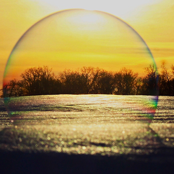 View Through a Bubble