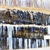 Icicles From Limestone Water