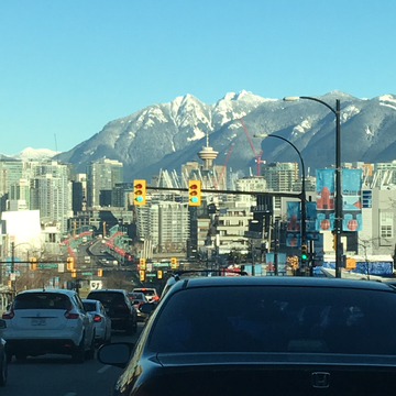 Driving into Vancouver