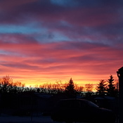 Beatiful sunset in Regina