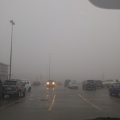 thats supposed to be walmart fog is very thick