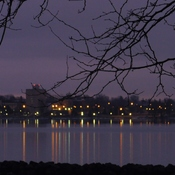 Before sunrise on the St. Lawrence River across from Prescott, ON