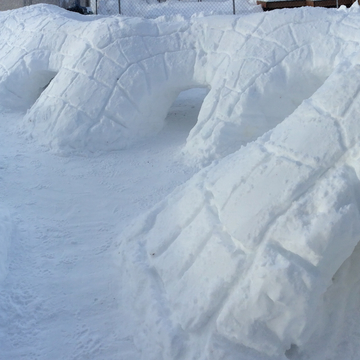 Snow tunnels for my dogs
