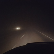 Fog between Lethbridge and Taber