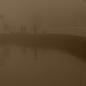 Foggy waterfront