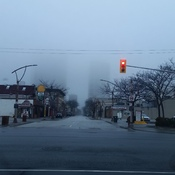 fog downtown Windsor