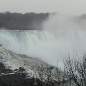 Foggy day over the falls