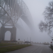 Bluewater Bridges fogged