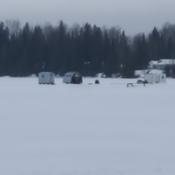 Fishing shacks on kenogami