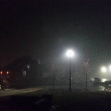 Foggy night in Windsor