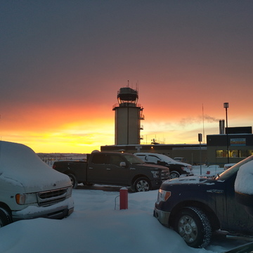 Inuvik Airport at sunrise