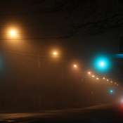 A foggy night