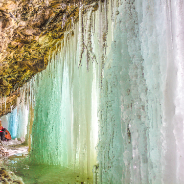 ICE CAVERNS in Campbell's Creek, Port-au-Port, Newfoundland & Labrador