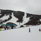 skiing at marble mountain