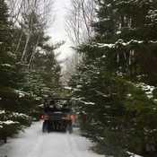 Fourwheeling in the snow