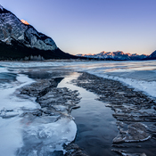 Methane Bubbles of Abraham Lake in Alberta