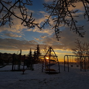 Sunrise over Playground