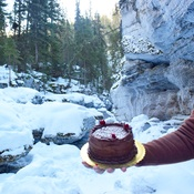 birthday celebrations in maligne canyon