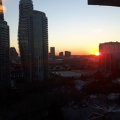 sun set in mississauga