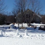 Snow family on family weekend.