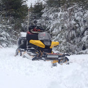 Deep snow in Chezzetcook, NS