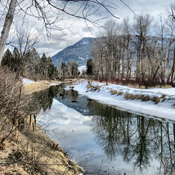 The Shuswap River in Enderby, B.C.