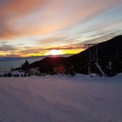 sunset from cypress mountain
