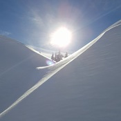 Sun gazing down on the Snow
