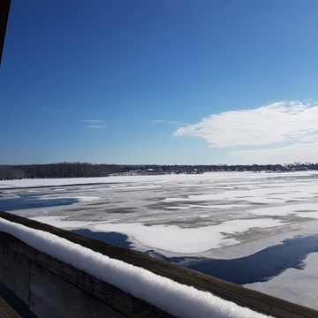 view from walking bridge on February 2