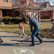 Family Day Weekend Ball Hockey in the Driveway