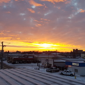 roof top sunrise