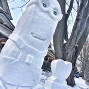 Snow sculpture fun in Waterloo during February, 2017