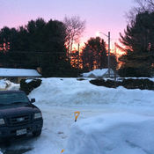 Red sunrise from Bracebridge this morning!