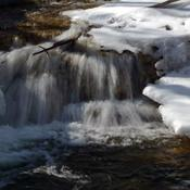 Melting snow, rushing water