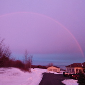 Rainbow sunrise in Avonport
