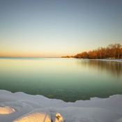 Sunset in Lake Simcoe