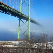 fog over the Mackay Bridge in Halifax
