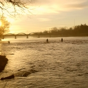 February morning on the Grand River, Caledonia
