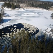 ice circles on bloodvein river
