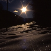 Stars in the Winter Snow, Rossland BC